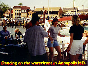 Dancing on the waterfront in Annapolis
